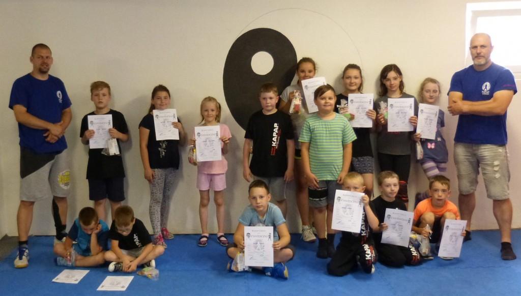 Zkoušky dětské sebeobrany (KAPAP KIDS) v Lounech