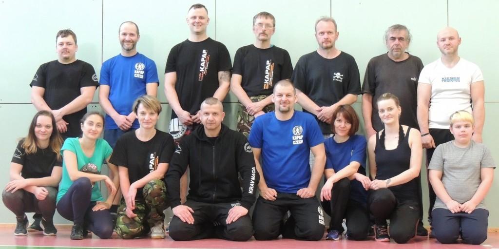 Účastnici semináře KRAV MAGA & KAPAP - Jihlava (17/2/2019)