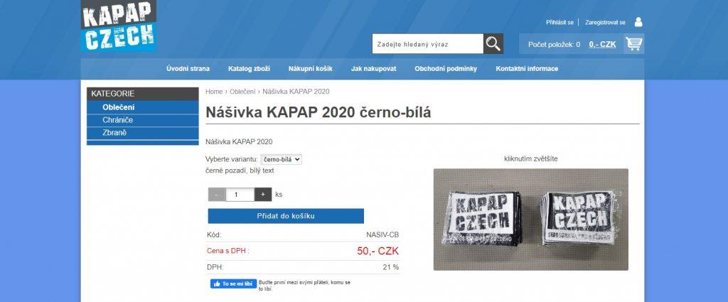 KAPAP SHOP - novinky (28/11/2020)