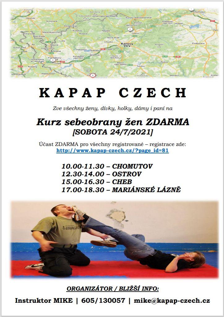 Leták: Západočeská KAPAP WOMAN TOUR (24/7/2021)